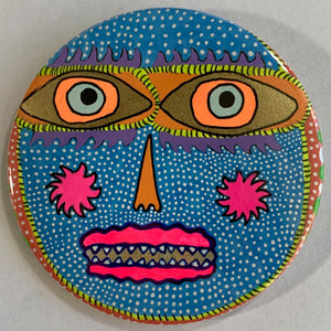 Polka-Dot Creature / ART PIN / one-of-a-kind & hand-painted