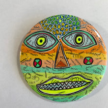 Sharp Teeth / ART PIN / one-of-a-kind & hand-painted