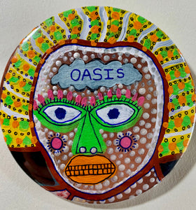 Oasis / ART PIN / one-of-a-kind & hand-painted