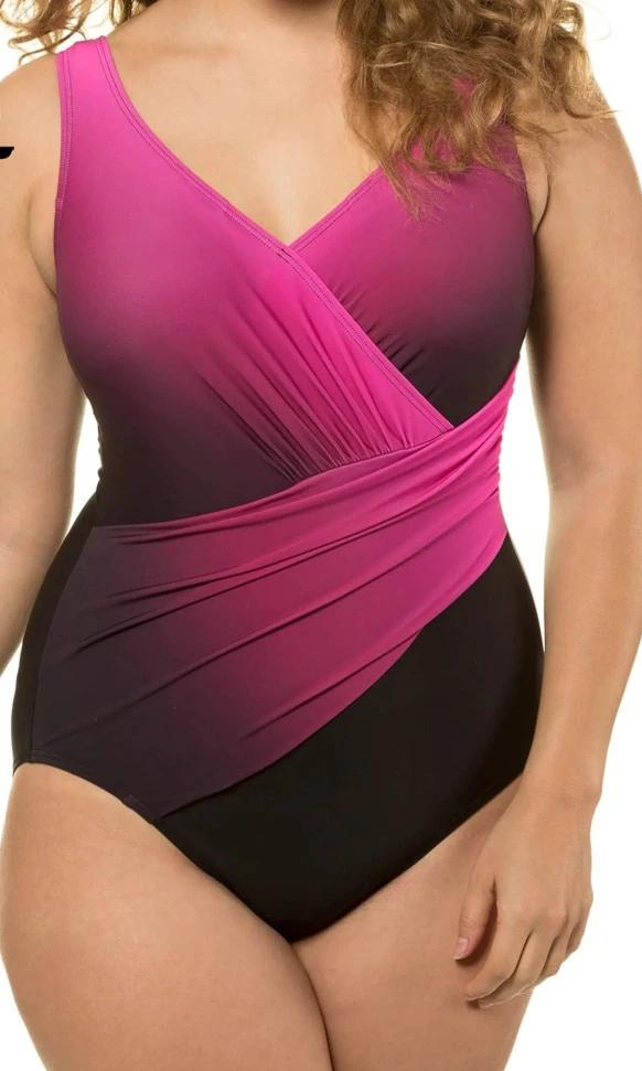 MOLLY Plus Size Gradient One Piece Monokini