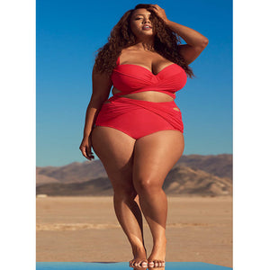 NAJEE High Waist Plus Size Two Piece Bikini