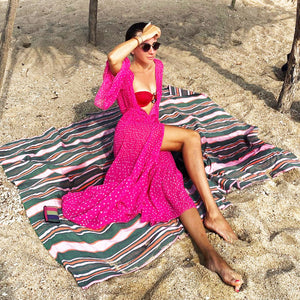 BOUGAINVILLEA Sexy Sheer Beach Cover Up