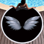 WINGS Round Beach Towel Blanket