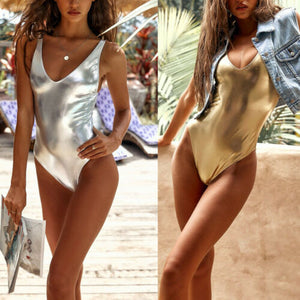 ATHENA Sexy Shiny Gold/Silver Metallic One Piece Or Two Piece Bikini