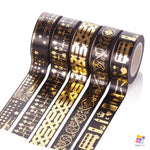 Black Collection - 10m Foiled Washi Tape