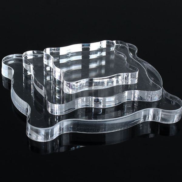 Transparent Clear Acrylic Stamp Block - 3 Sizes