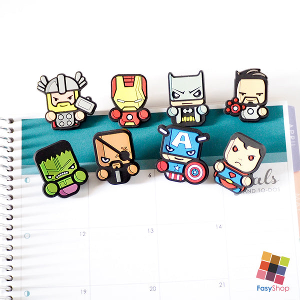 Superheroes Memo Paper Clips - 8 Design Choices - FasyStore