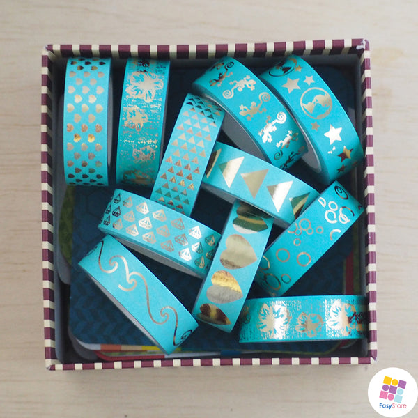 Teal Collection - 10m Foiled Washi Tape