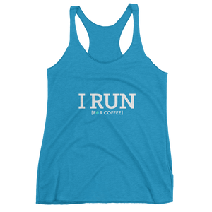 Women's I RUN FOR COFFEE tank top