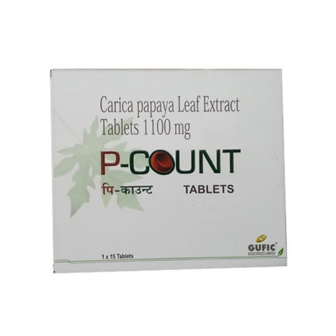 P-Count ( Carica papaya leaf extract ) Tablets
