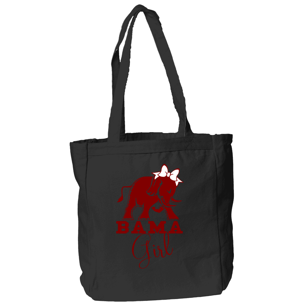 Bama Girl Tote Bag in Black