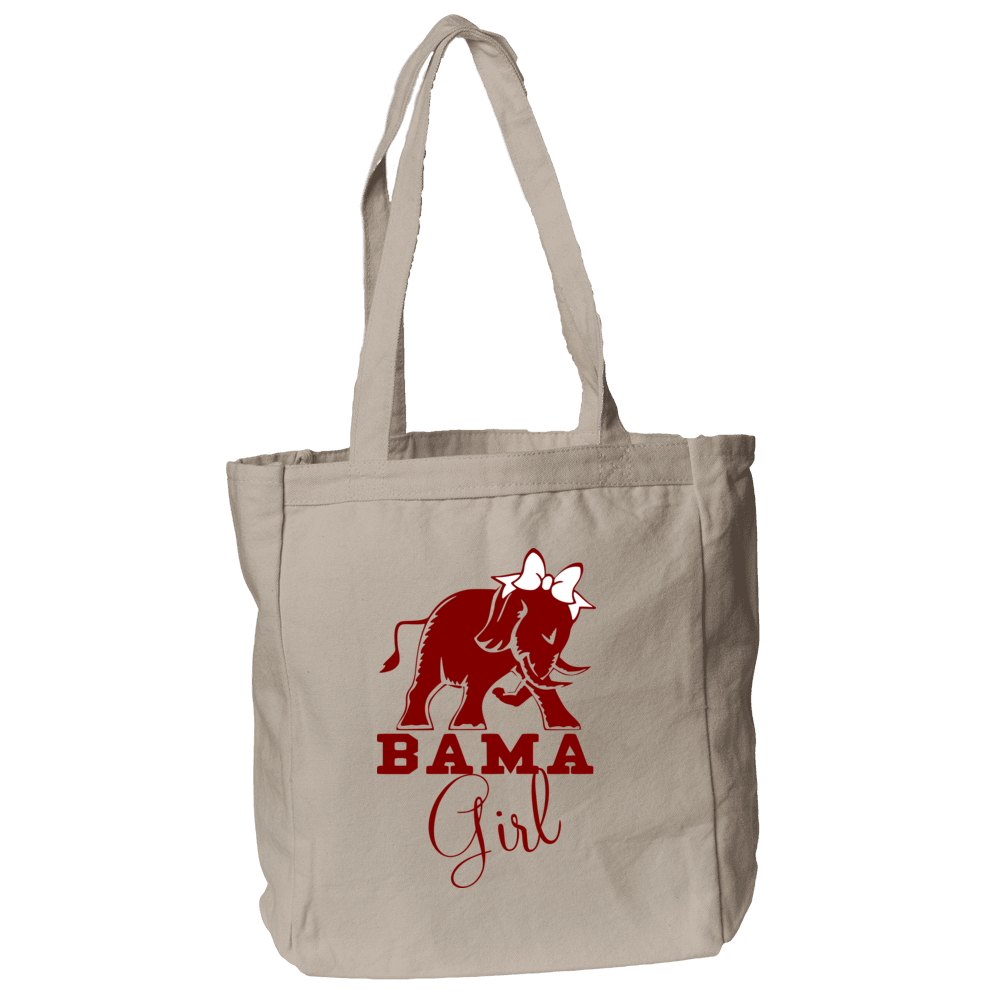 Bama Girl Tote Bag in Natural