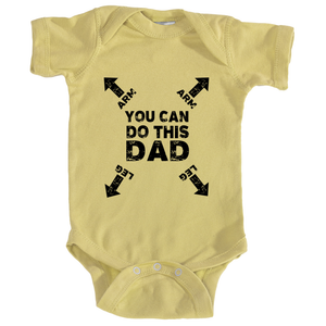 Dad You Can Do This Instructions Onesie in Banana