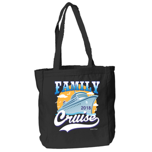 Family Cruise 2018 Tote Bag in Black