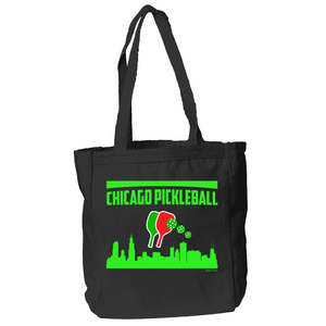 Chicago Pickleball Tote Bag in Black