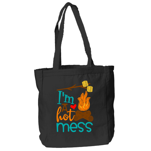 I'm a Hot Mess Tote Bag in Black