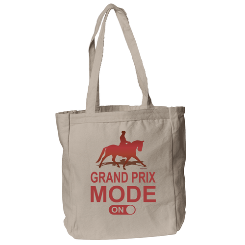 Grand Prix Mode ON Tote Bag in Natural