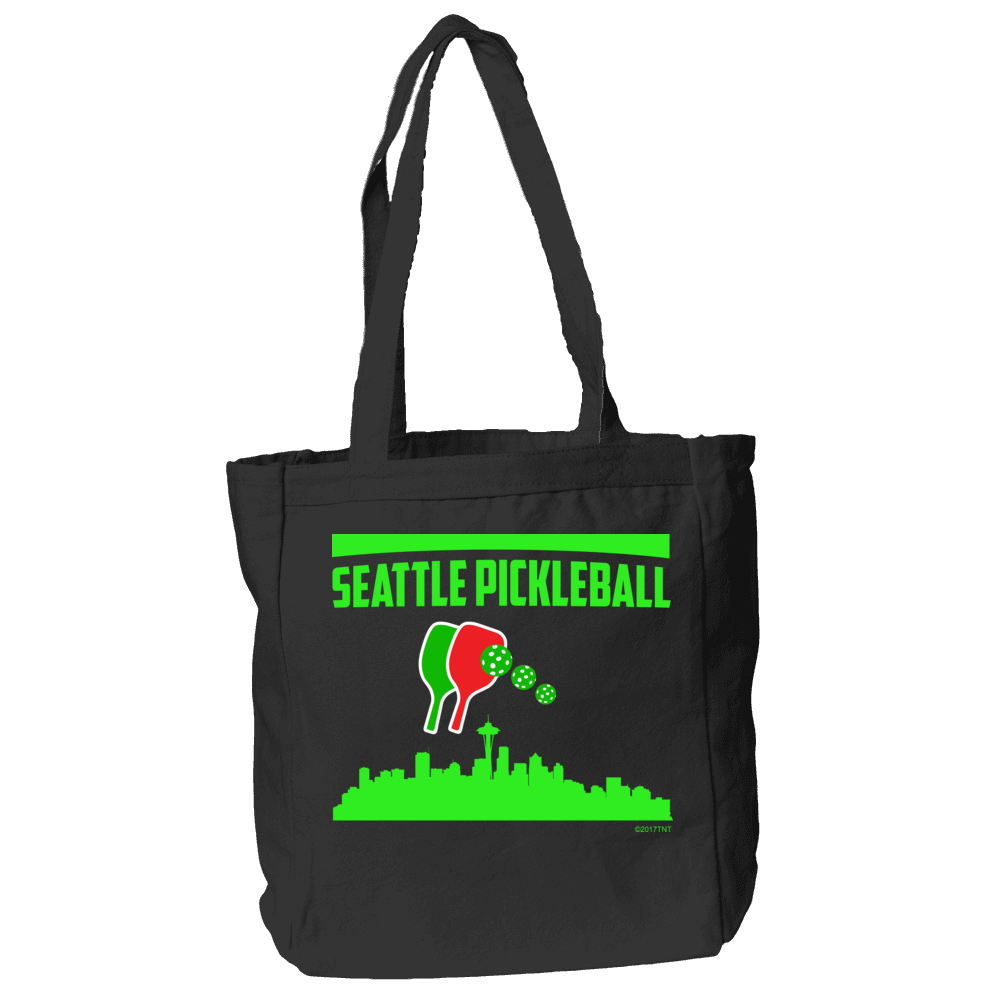 Seattle Pickleball Tote Bag in Black