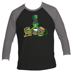St Patrick's Day Octopus Men's Raglan T-Shirt