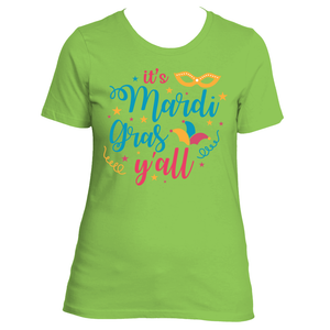 It's Mardi Gras Y'All Women's Mardi Gras Party TShirt