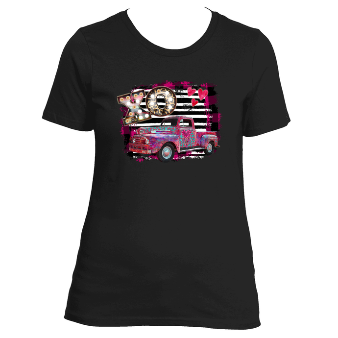 Old Trucks and Back Roads That's Me Old Vintage Pink Pick Up Women's TShirt
