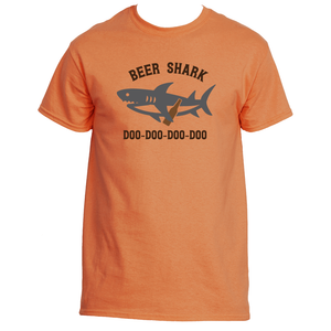 Funny Drinking Shark Beer Drinking Men's T-Shirt