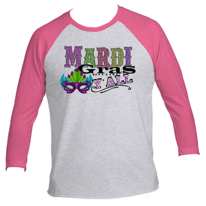 Mardi Gras Y'All 3/4 Raglan