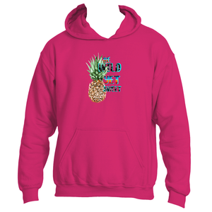 Be Wild Yet Sweet Fun Pineapple Adult Hoodie