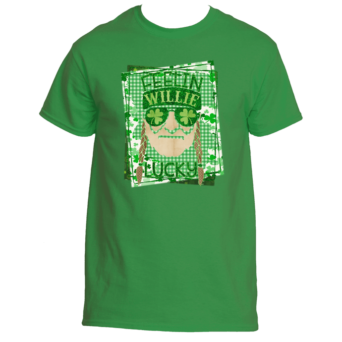 Funny Willie Nelson St. Pat's Men's TShirt