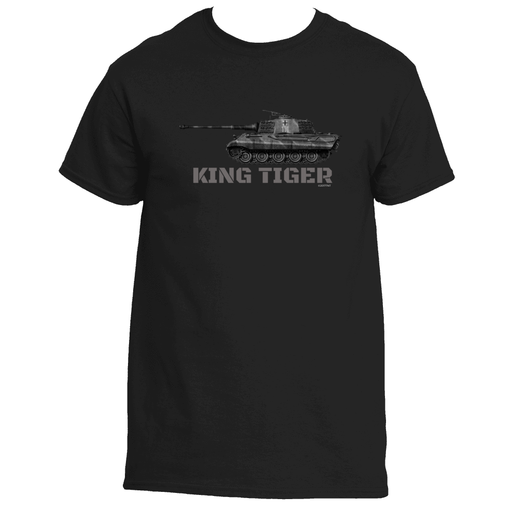 King Tiger WW2 German Tank Men's TShirt