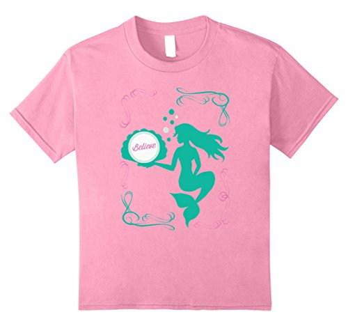 Believe Mermaid Holding a Seashell TShirt