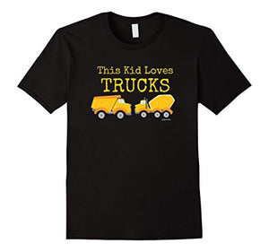 This Kid Loves Trucks Mixer & Dump Truck Youth T-Shirt