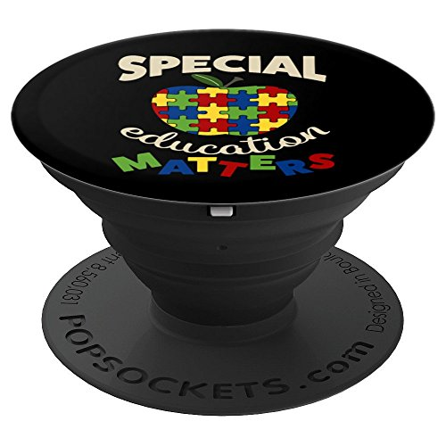 Special Education Matters Autism Awareness  - PopSockets Grip and Stand for Phones and Tablets