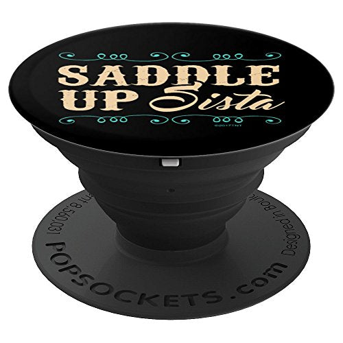 Saddle Up Sista - PopSockets Grip and Stand for Phones and Tablets