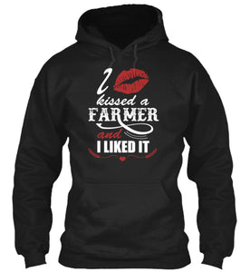 I Kissed a Farmer and I Liked It Adult Size Premium Hoodie