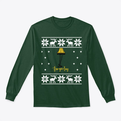 Ugly Christmas Sweater Christmas Story Leg Lamp Long Sleeve TShirt
