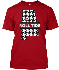 Roll Tide Houndstooth State of Alabama Unisex T-Shirt