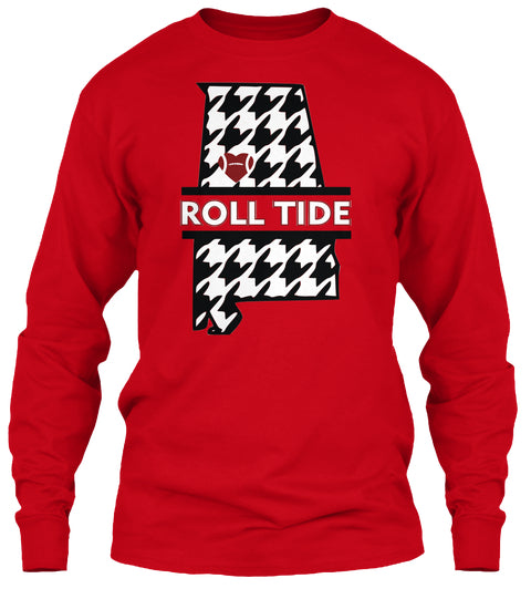 Roll Tide Houndstooth State of Alabama Unisex Long Sleeve
