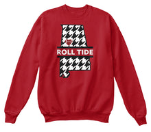 Roll Tide Houndstooth State of Alabama Unisex Sweatshirt