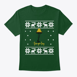 Ugly Christmas Sweater Christmas Story Leg Lamp TShirt