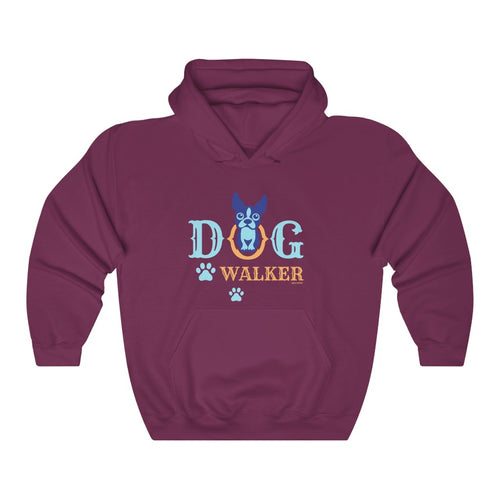 Dog Walker Paw Print Professional Dog Walker Service Unisex Heavy Blend™ Hooded Sweatshirt