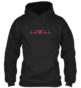 Cheerleader Heartbeat Adult Hoodie in Black