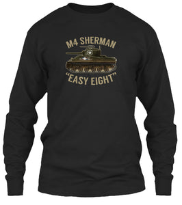 M4 Sherman Tank Easy Eight Long Sleeve Shirt