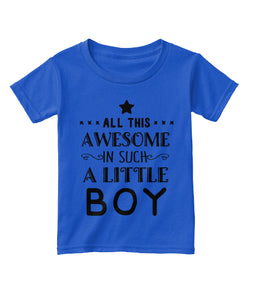 Awesome Little Boy TShirt in Royal Blue