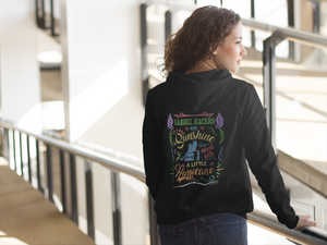Barrel Racer Sunshine and Hurricane Back Design Hoodie