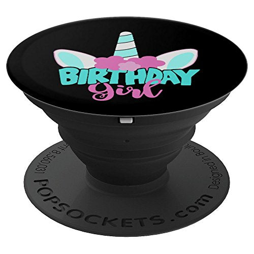 Fun Unicorn Birthday Girl - PopSockets Grip and Stand for Phones and Tablets