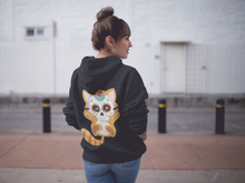 Day of Dead Kitten Back Design Hoodie