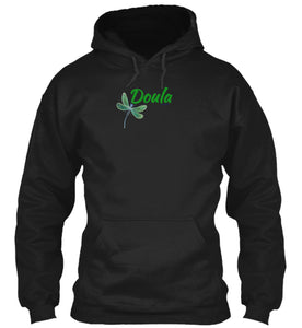 Doula Green Dragonfly Hoodie