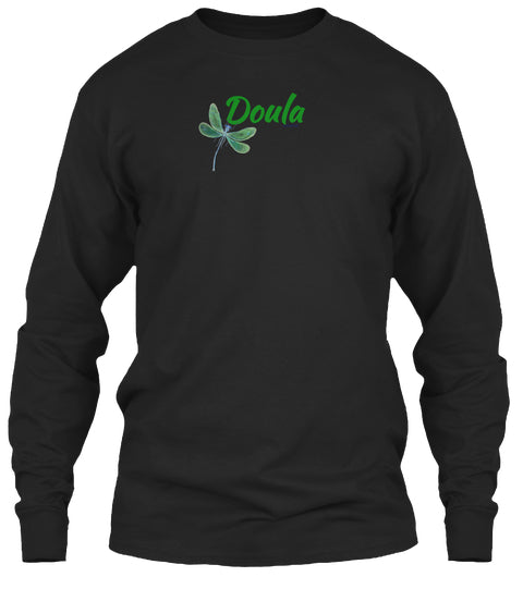 Doula Green Dragonfly Unisex Long Sleeve Shirt