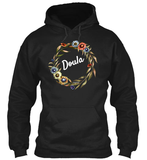 Doula Floral Wreath Hoodie